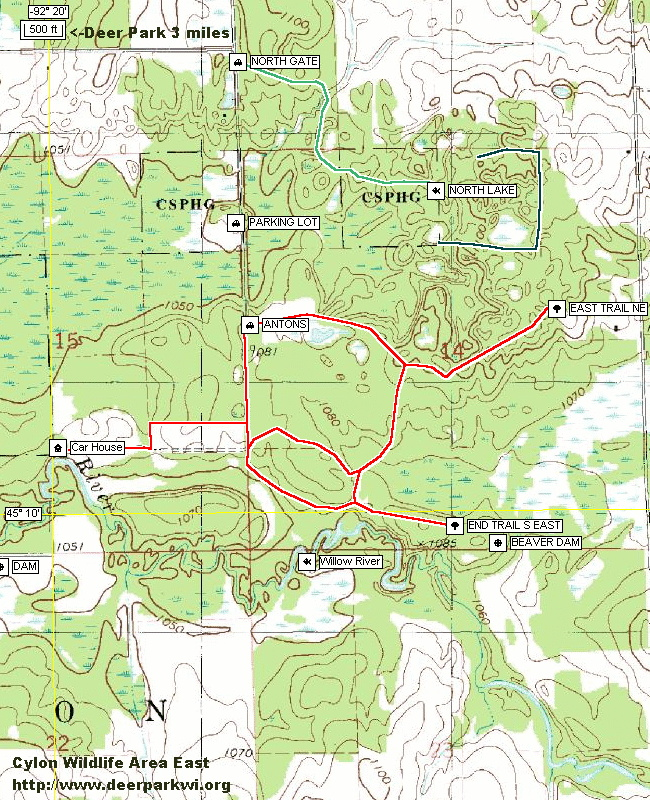 Welcome To The Cylon Wildlife Area Trail Map Page - Dnr topo maps